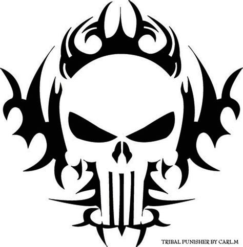 punisher tribal tattoo tribal punisher by jayballz on deviantart