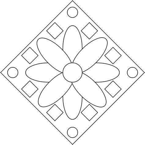 imagenes geometricas para colorear dibujos para colorear