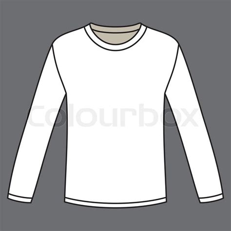 black long sleeved t shirt template stock vector colourbox