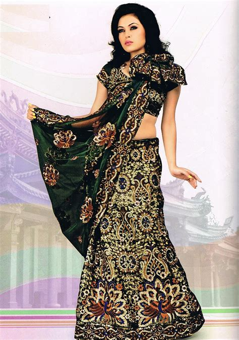 Mukena Amaly Sari India Ekslusif designer indian saree dress green peacock motif wedding