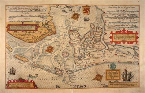 scheepvaart zuiderzee west friesland op oude kaarten