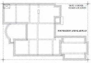 foundation plans for houses foundation layout