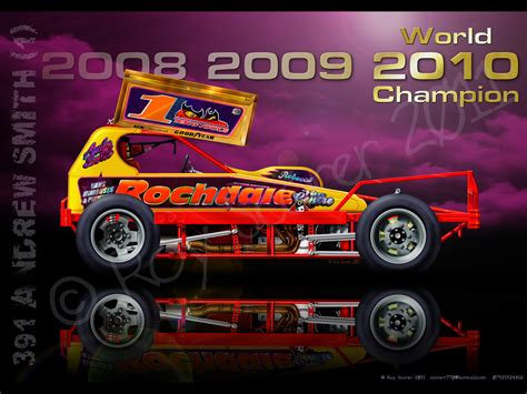 Technical Race Car Illustrations of Roy Scorer   Andy Smith BRISCA F1 Stockcar World Champion