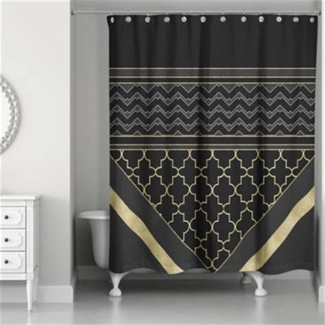 buy black and gold curtains buy gold shower curtains from bed bath beyond