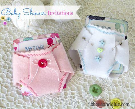 diaper bathtub baby shower diaper invitations ribbons glue