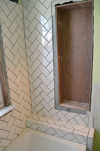 Installing Kitchen Backsplash herringbone subway tile lemon grove avenue