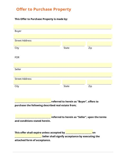 offer form to buy a house offer to purchase property letter template before submitting a home offer make sure