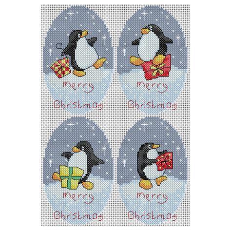 ornament cross stitch penguins cross stitch pattern heaton cross