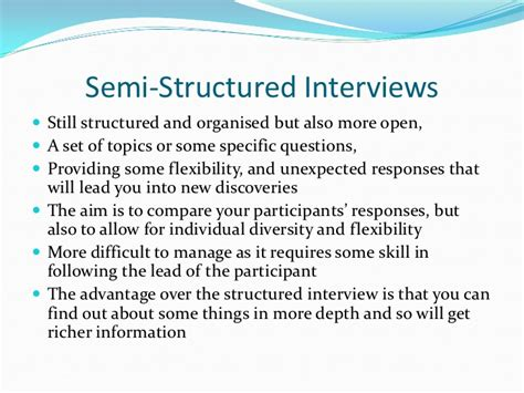 semi structured template elicitation procedures