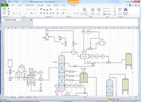 drawing floor plans in excel create p id for excel