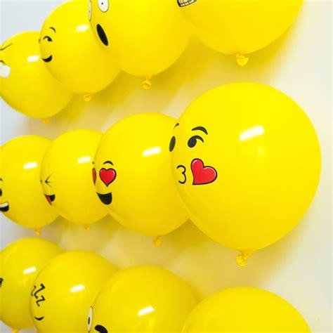 balon tiup emoticon 100 pcs yellow jakartanotebook