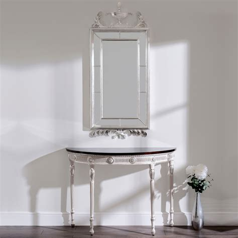 mirror console table neo classical style console table and mirror set
