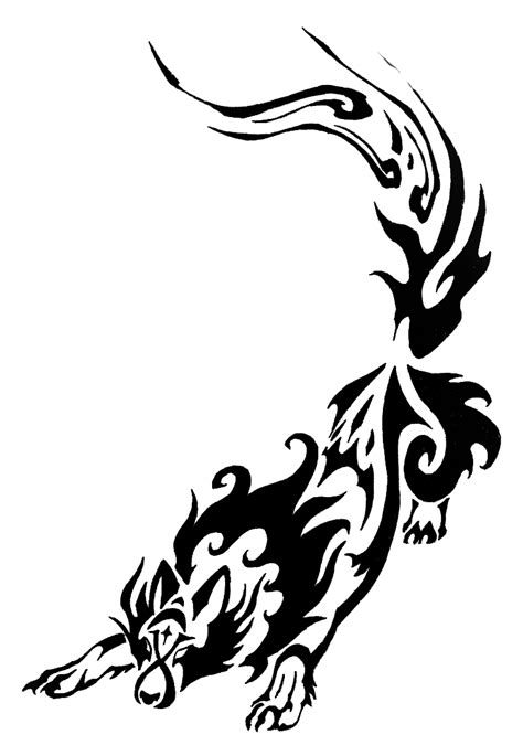 tribal girly tattoos feminine wolf tattoos night wolf tribal commission by