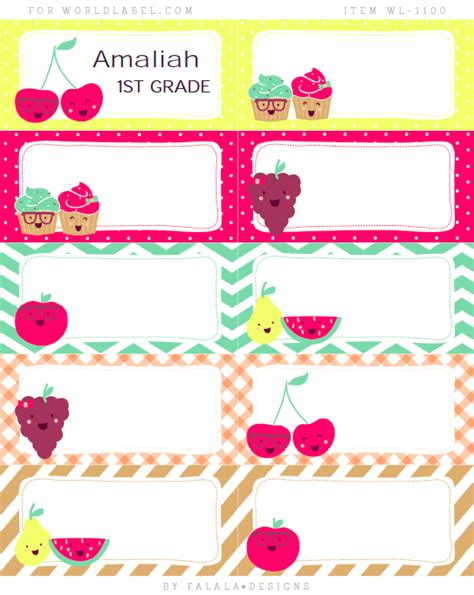 Back To School Labels By Falala Designs Worldlabel Blog School Book Labels Template
