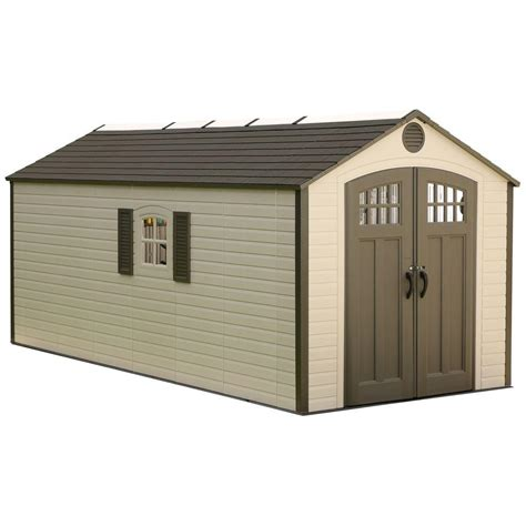 Home Depot Large Sheds by Lifetime 8 Ft X 17 5 Ft Plastic Storage Shed 60121 The