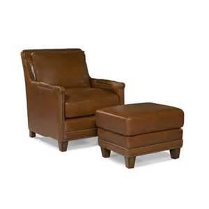 prescott leather arm chair and ottoman wayfair