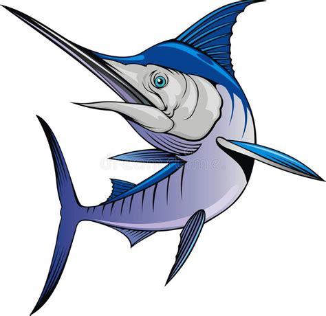 clipart pesce pesce di marlin isolato illustrazione di stock