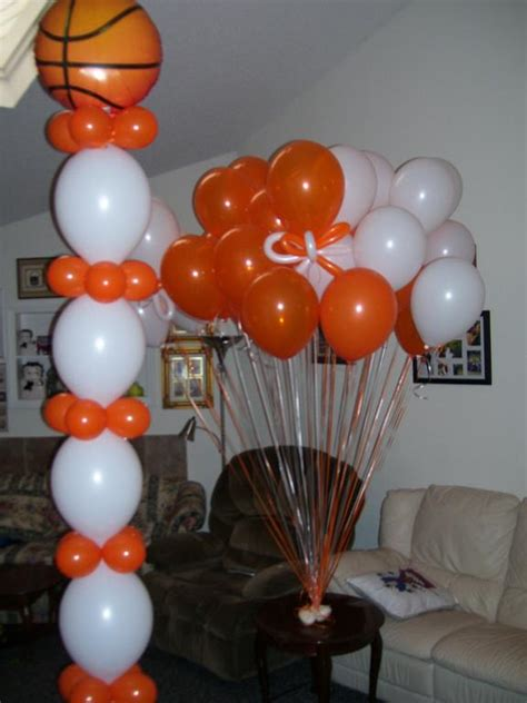 basketball themed decorations in balloon decorations favors ideas