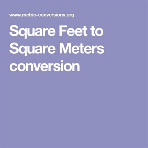 6 square meters to square feet the 25 best meter conversion ideas on pinterest