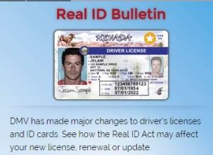 nevada real id drivers license law • mycarlady