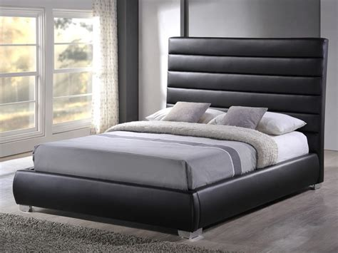 Time Living Chessington King Size Black Faux Leather Bed Frame King Size Faux Leather Bed Frame