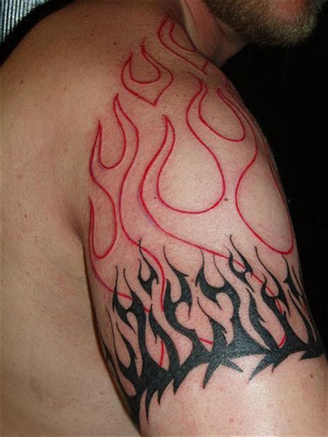Awesome Flames Tattoo With Flames Tattoos