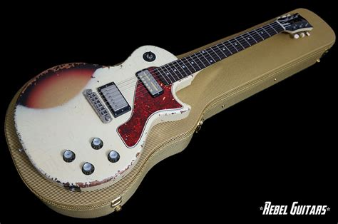 rock n roll relics rebel guitars rock n roll relics thunders ii sc in aged white over