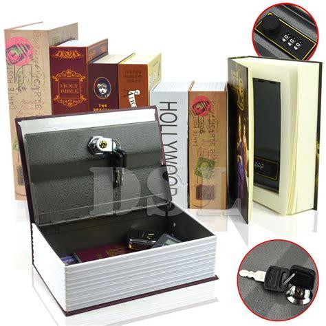 homesafe real book safe key combination metal security money box 3 size 7 design ebay
