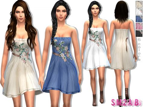 design clothes the sims 4 sims2fanbg s 16 designer floral dress