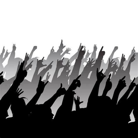 imagenes vectores rock siluetas de un concierto de rock descargar vectores gratis
