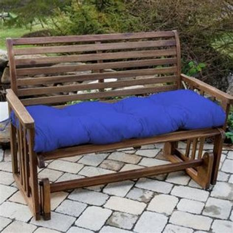 Sears Patio Furniture Replacement Cushions Greendale Home Fashions 54 In Outdoor Bench Cushion Marine Blue At Sears