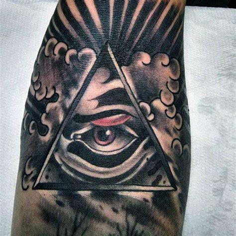 illuminati tattoo on neck 114 intense eye tattoos that will blow your mind