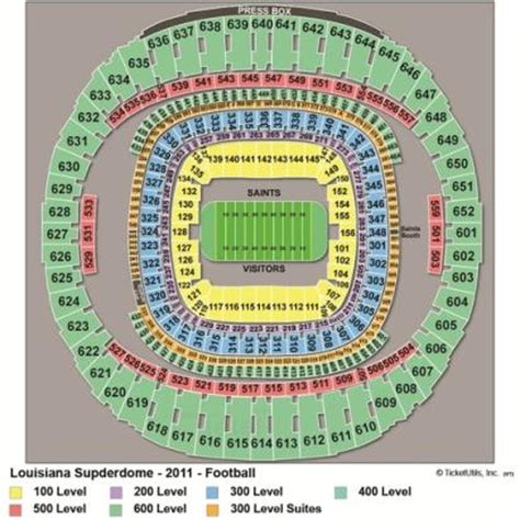 mercedes superdome seating 3d vipseats mercedes superdome tickets
