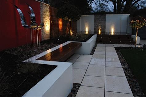 Red Feature Wall Outdoor Outside Area Entertaining Rendered Garden Wall
