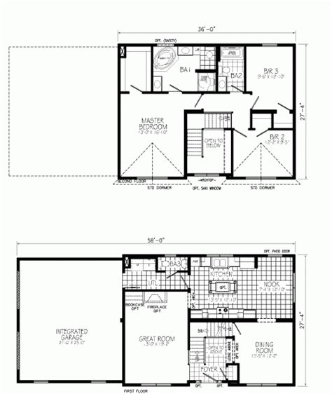 two story style modular homes floor plans design