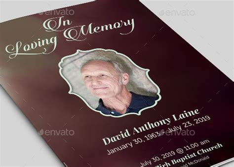 in memory cards templates in loving memory templates choice image template design