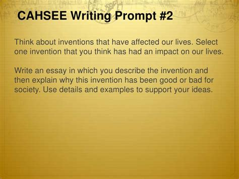Cahsee Essay Exles by Types Of Writing