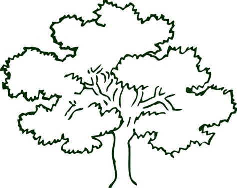 Narra Tree Coloring Page | business card tree clip art at clker com vector clip art