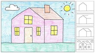 draw house how to draw a house art projects for kids