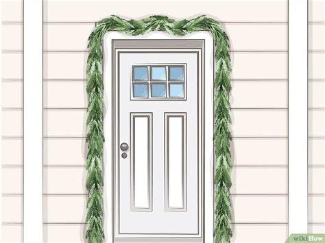 hang garland   front door door hanging