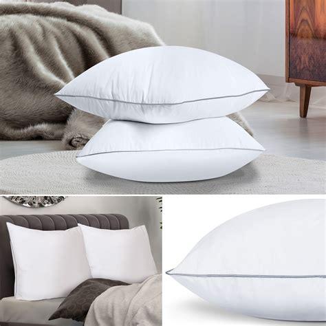 oreillers en plume lot de 2 oreillers confort plume d oie 60x60 cm anti