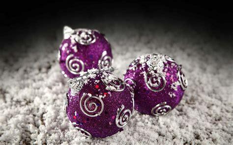 purple  silver christmas balls wallpaper hd christmas