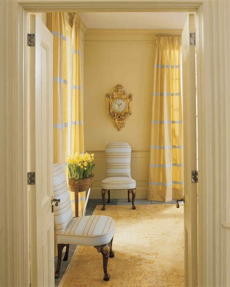 Salmon Colored Curtains Designs Yellow Rooms Martha Stewart