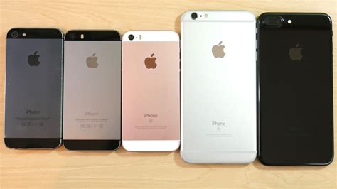 iphone 5 vs iphone 5s vs iphone se vs iphone 6s plus vs iphone 7 plus