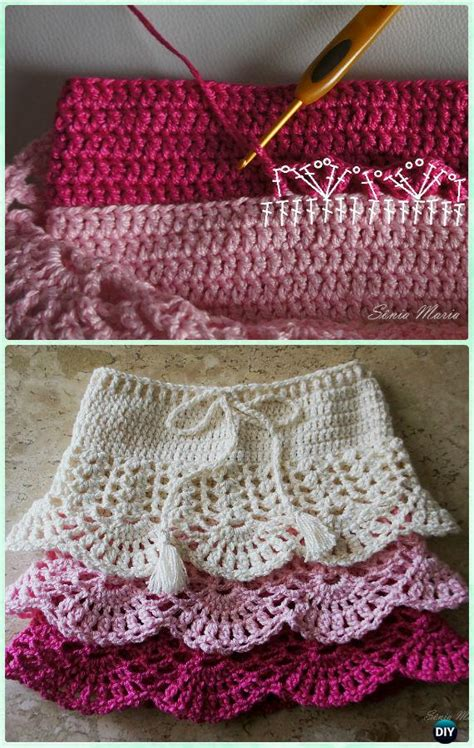 crochet girls skirt  patterns