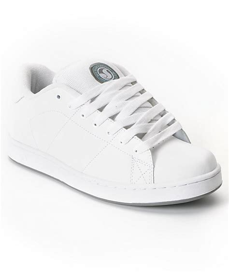 dvs revival white leather skate shoes at zumiez pdp
