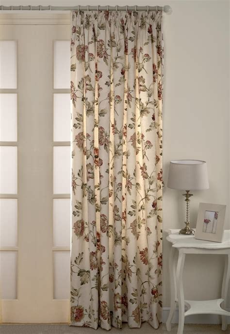 heavy lined curtains fully lined heavy floral door curtain cream 66 quot x 84 quot