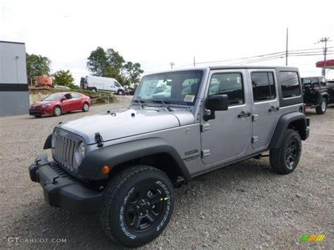jeep billet silver metallic 2017 billet silver metallic jeep wrangler unlimited sport