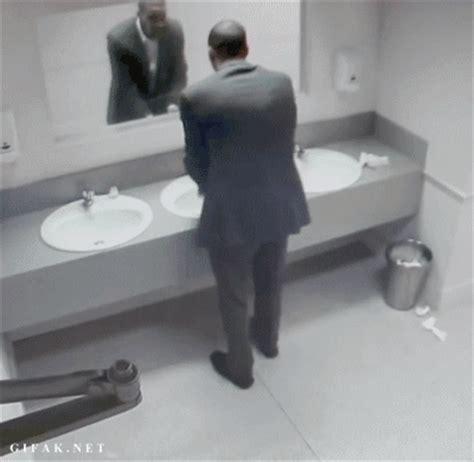 bathroom mirror prank doge meme is much scare very afraid wow much blood