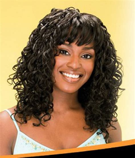 Curly Weave Bang | curly weave hairstyles with bangs